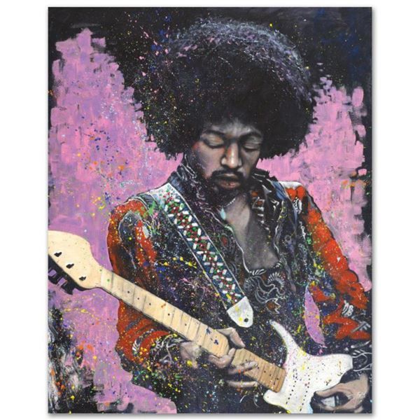 """Jimi"" Limited Edition Giclee on Canvas by Stephen Fishwick, Numbered and Signed. This piece comes G"