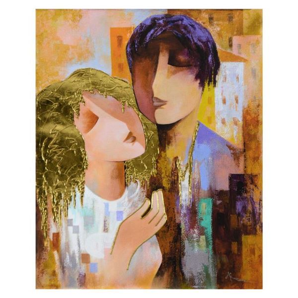 "Arbe, ""Honeymoon"" Limited Edition on Canvas with Gold Embellishing, Numbered and Hand Signed with Ce"