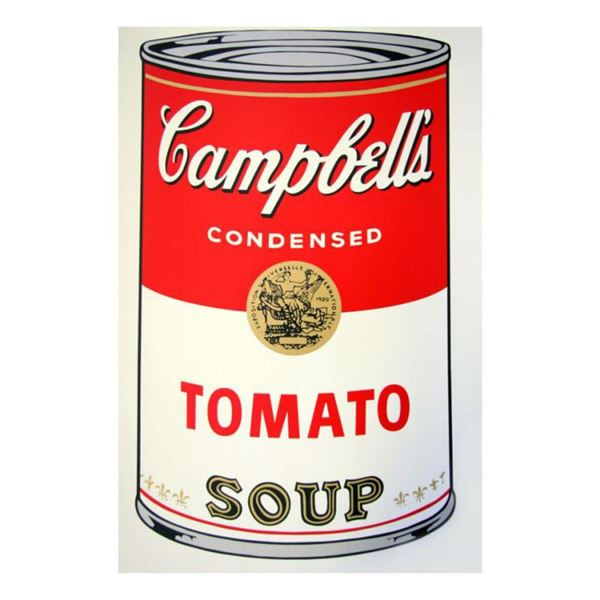 "Andy Warhol ""Soup Can 11.46 (Tomato Soup)"" Silk Screen Print from Sunday B Morning."