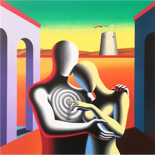 "Mark Kostabi ""THE SOUL WITHIN THE SOUL"" Original Serigraph"