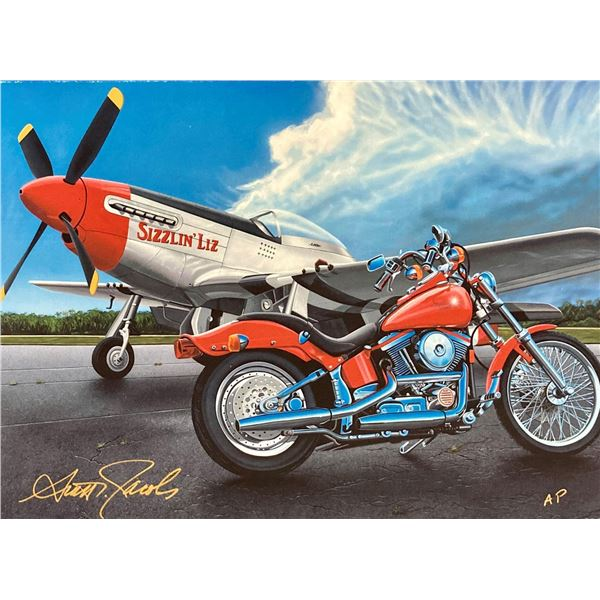 "Scott Jacobs- Original Giclee on Canvas ""Riders in the Storm"""