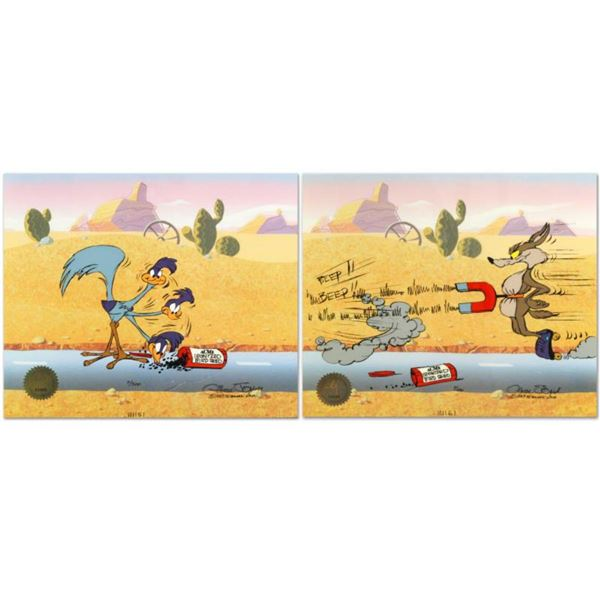 """Road Runner and Coyote: Acme Birdseed"" Limited Edition Animation Cel Edition with Hand Painted Colo"