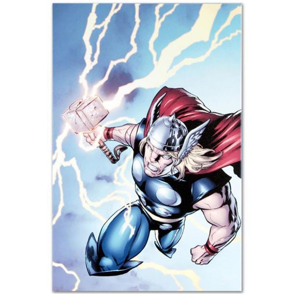 "Marvel Comics ""Marvel Adventures: Super Heroes #7"" Numbered Limited Edition Giclee on Canvas by Salv"