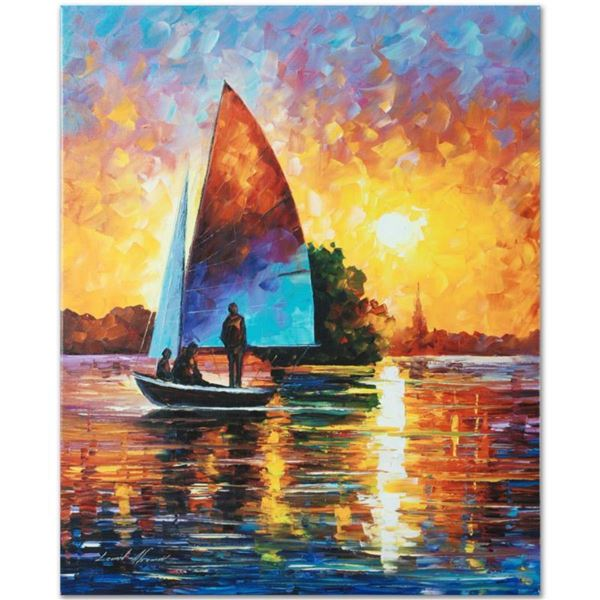 "Leonid Afremov (1955-2019) ""Bonding"" Limited Edition Giclee on Canvas, Numbered and Signed. This pie"