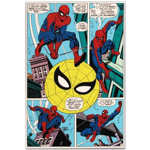 "Marvel Comics ""Amazing Spider-Man #90"" Numbered Limited Edition Giclee on Canvas by Gil Kane with CO"