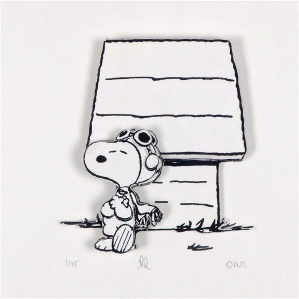 "Peanuts, ""Hero"" Hand Numbered Limited Edition 3D Decoupage with Certificate of Authenticity."