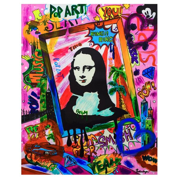 Nastya Rovenskaya- Mixed Media  Mona Lisa