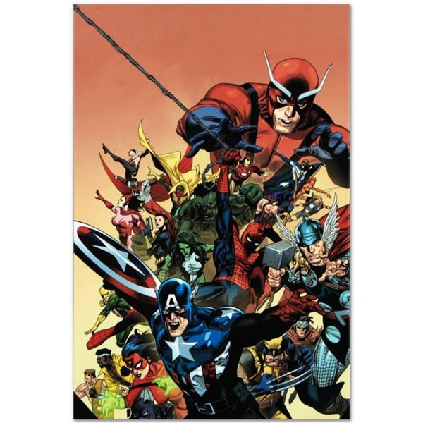"Marvel Comics ""I Am An Avenger #1"" Numbered Limited Edition Giclee on Canvas by Leinil Francis Yu wi"
