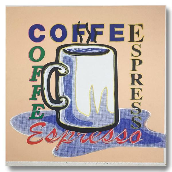 "Steve Kaufman (1960-2010) ""ESPRESSO"" Hand Signed and Numbered Limited Edition Hand Pulled silkscreen"