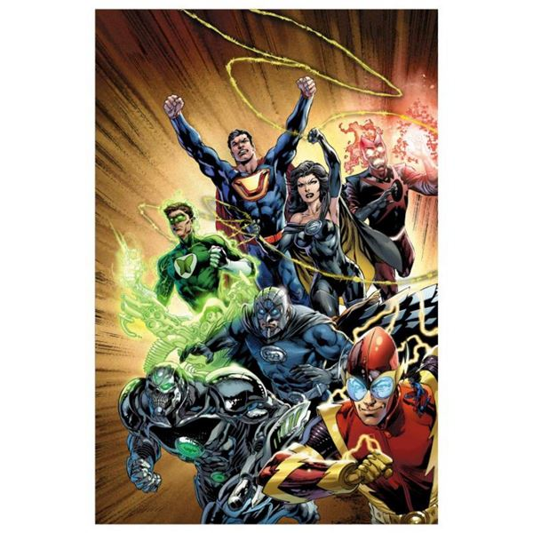"""DC Comics, """"Justice League #24"""" Numbered Limited Edition Giclee on Canvas by Ivan Reis with COA."""
