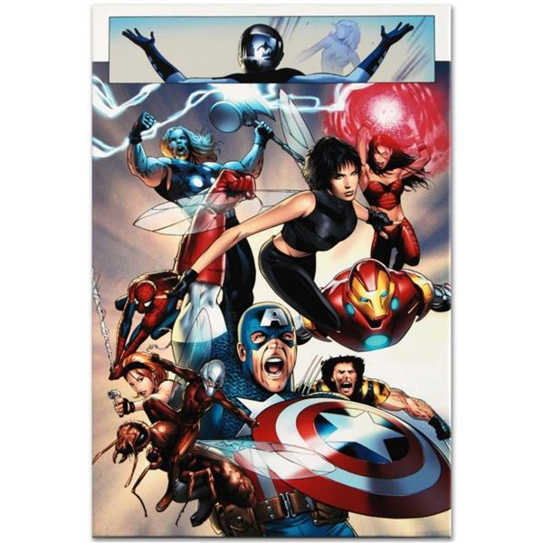 """Marvel Comics """"Ultimate Fantastic Four #26"""" Numbered Limited Edition Giclee on Canvas by Greg Land w"""