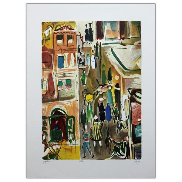 "Nachum Gutman- Original Lithograph ""A Street In Jaffa"""