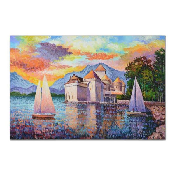 """Alexander Antanenka, """"Captivating View From the Water"""" Original Oil Painting (60"""" x 40"""") on Canvas,"""