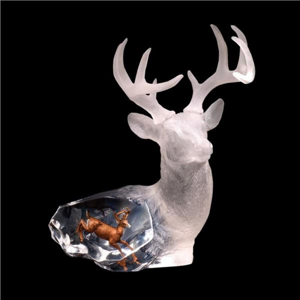 """Kitty Cantrell, """"Majestic Spirit"""" Limited Edition Mixed Media Lucite Sculpture with COA."""