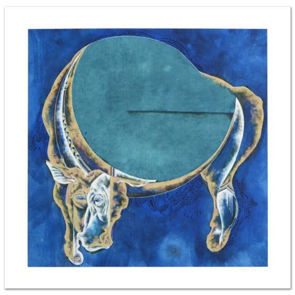 """Lu Hong, """"Taurus"""" Limited Edition Giclee, Numbered and Hand Signed with COA."""