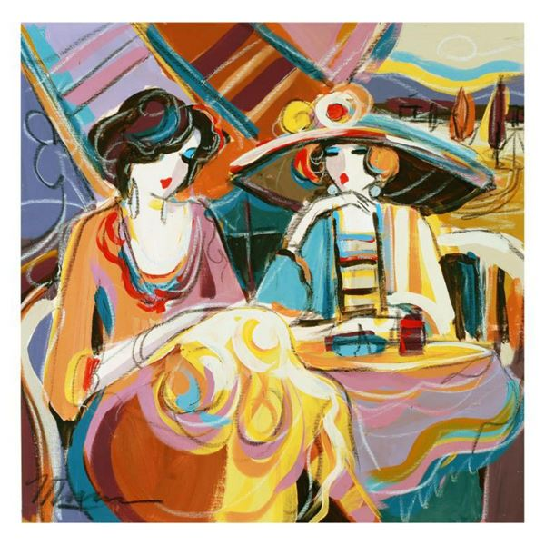 """Isaac Maimon, """"Girl Moments"""" Original Acrylic Painting, Hand Signed with Certificate of Authenticity"""