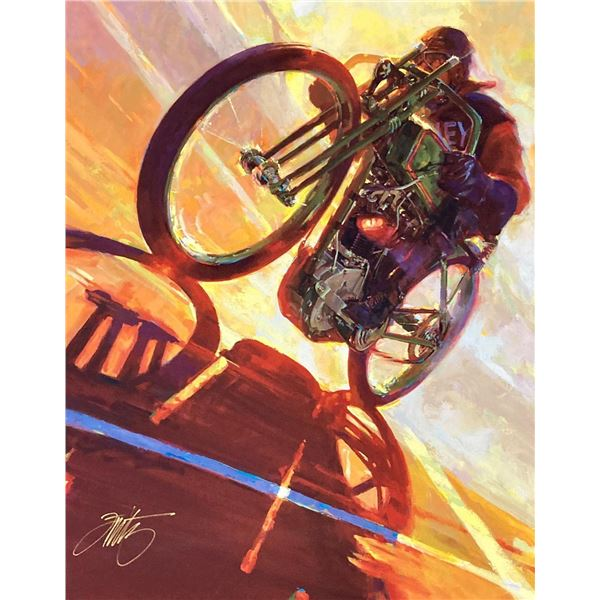 """Tom Fritz- Original Giclee on Canvas """"Thunder on the Wall"""""""
