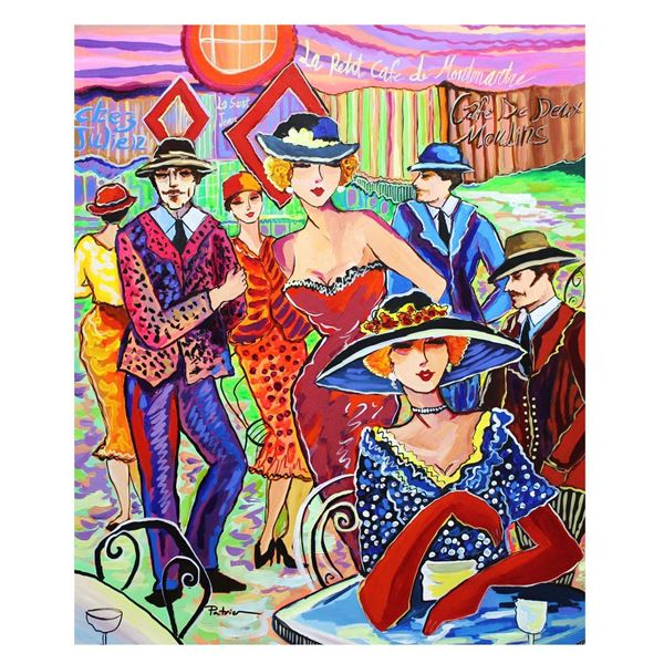 "Patricia Govezensky- Original Acrylic on Canvas ""Vecation in Paris"""