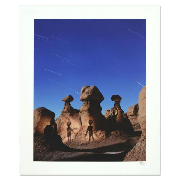 """Robert Sheer, """"Aliens in Goblin Valley Sign"""" Limited Edition Single Exposure Photograph, Numbered an"""
