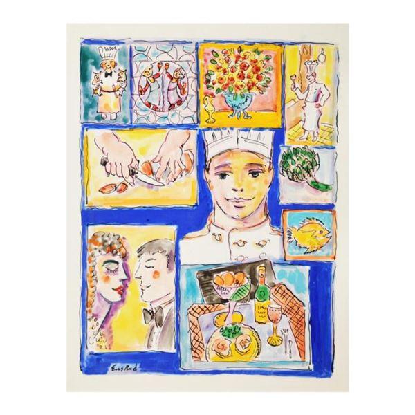 "Wayne Ensrud ""Cuisine"" Mixed Media Original Artwork; Hand Signed; COA"