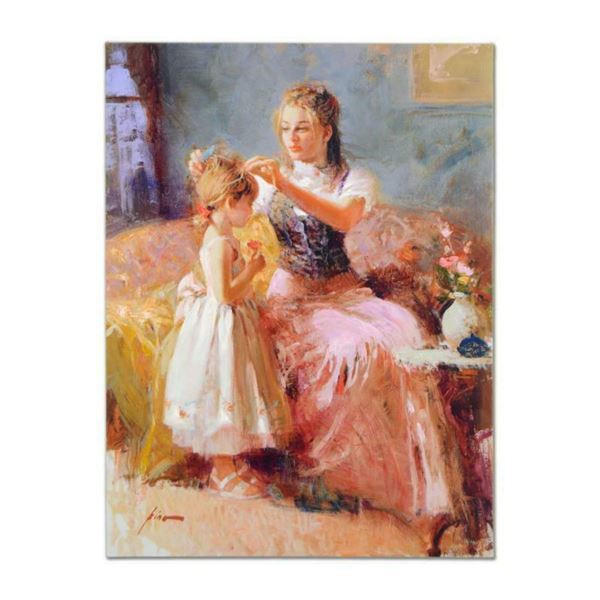 """Pino (1939-2010), """"Little Lady"""" Artist Embellished Limited Edition on Canvas (30"""" x 40""""), AP Numbere"""