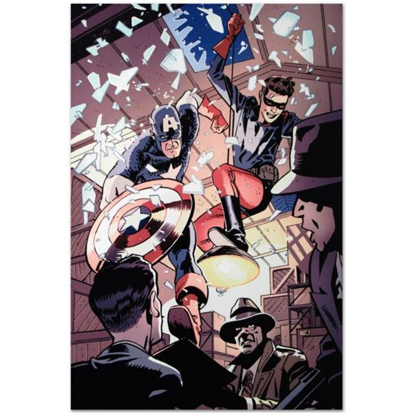 """Marvel Comics """"Captain America and Bucky #621"""" Numbered Limited Edition Giclee on Canvas by Chris Sa"""