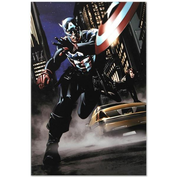 """Marvel Comics """"Captain America #34"""" Numbered Limited Edition Giclee on Canvas by Steve Epting with C"""