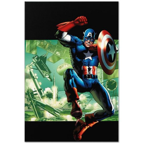 "Marvel Comics ""Captain America: Man Out Of Time #4"" Numbered Limited Edition Giclee on Canvas by Bry"