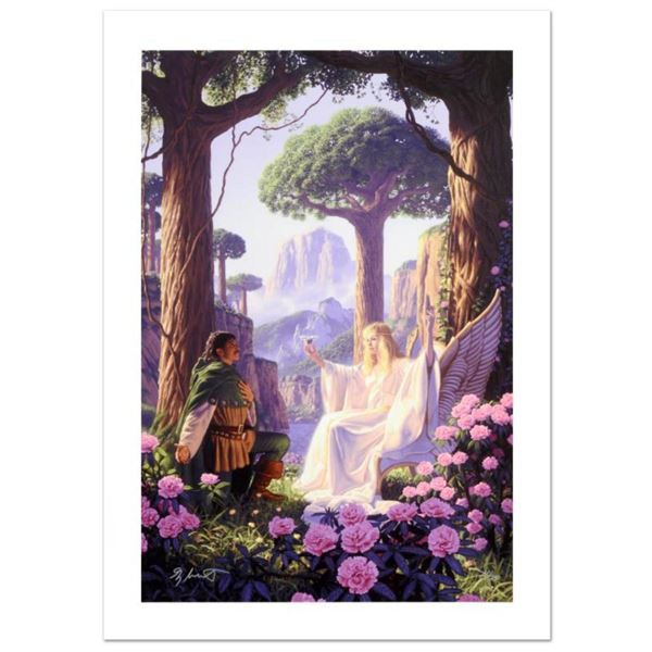 """The Gift Of Galadriel"" Limited Edition Giclee on Canvas by Greg Hildebrandt. Numbered and Hand Sign"