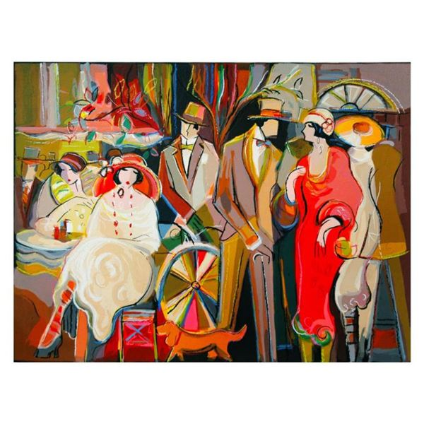 "Isaac Maimon, ""Charming Encounters"" Limited Edition Serigraph, Numbered and Hand Signed with Letter"