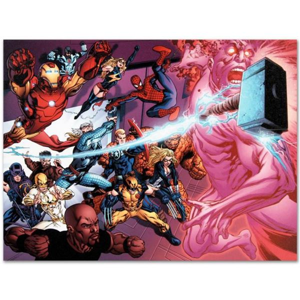 "Marvel Comics ""Avengers Academy #11"" Numbered Limited Edition Giclee on Canvas by Tom Raney with COA"