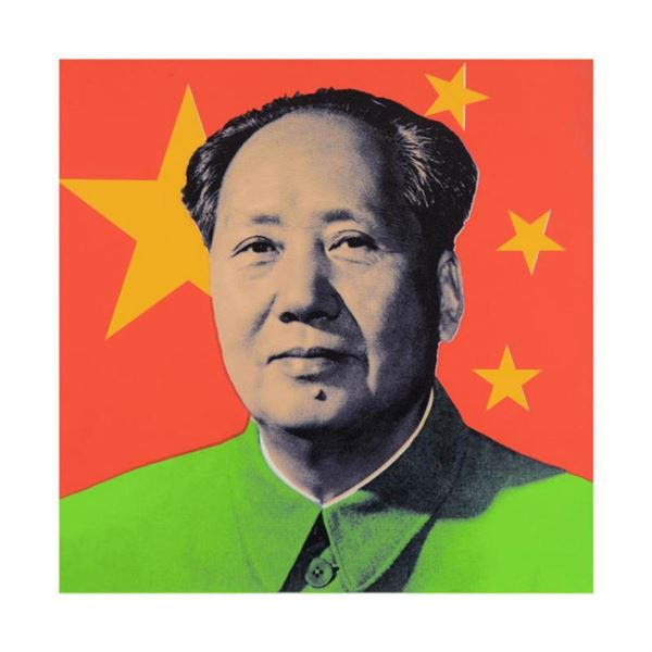 """Steve Kaufman (1960-2010) """"Chairman Mao"""" Limited Edition Hand Pulled Silkscreen on Canvas, Numbered"""