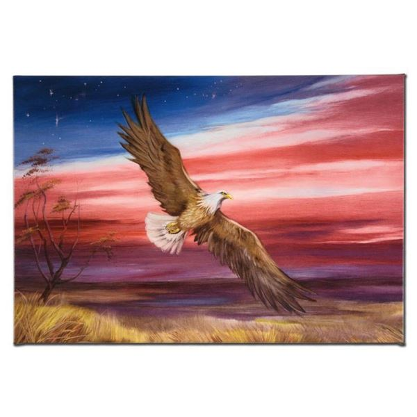 """""""Red White and Blue"""" Limited Edition Giclee on Canvas by Martin Katon, Numbered and Hand Signed. Thi"""