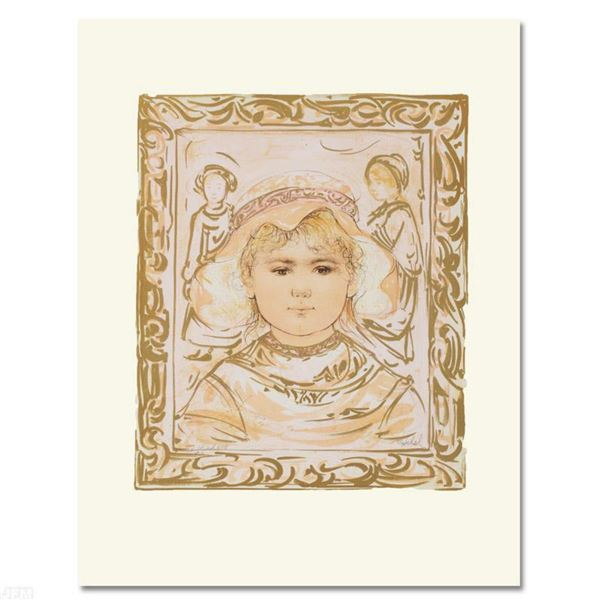 """""""Martha"""" Limited Edition Lithograph by Edna Hibel (1917-2014), Numbered and Hand Signed with Certifi"""