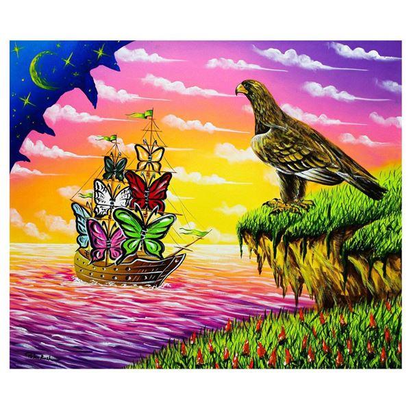 "Eugene Poliarush- Original Oil on Canvas ""Sunset Arrival"""