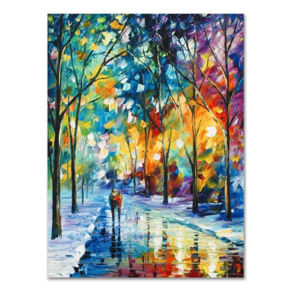 """Leonid Afremov (1955-2019) """"Under the Gaze"""" Limited Edition Giclee on Canvas, Numbered and Signed. T"""