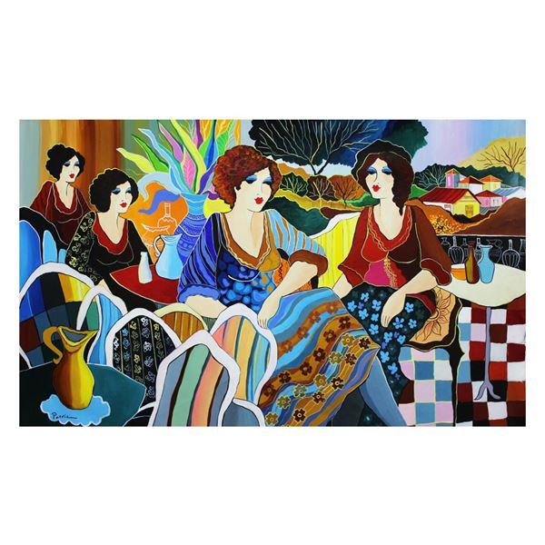 "Patricia Govezensky- Original Acrylic On Canvas ""Favorite Place"""