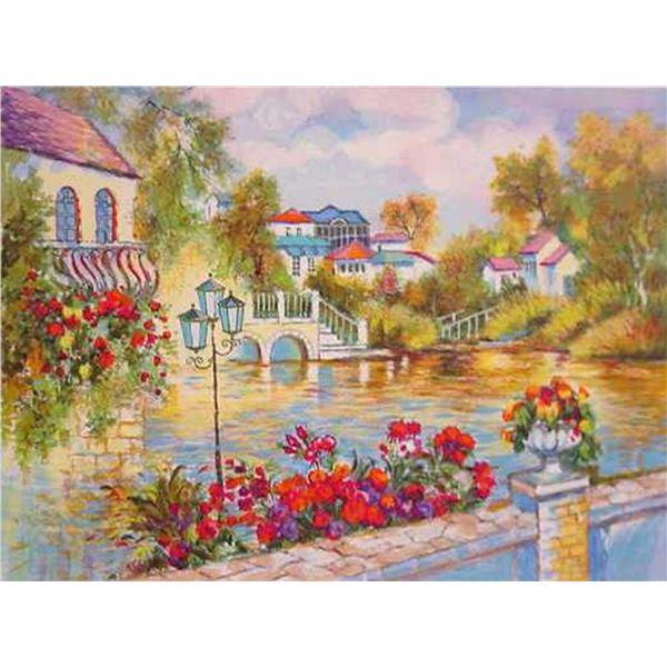 """Zina Roitman- Original Serigraph """"Flowered Day"""""""