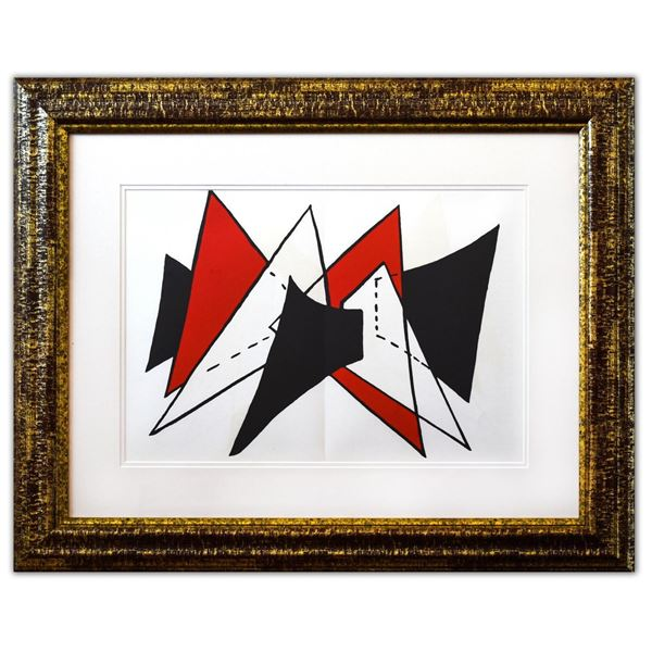 "Alexander Calder- Lithograph ""DLM141 - Triangles rouges"""