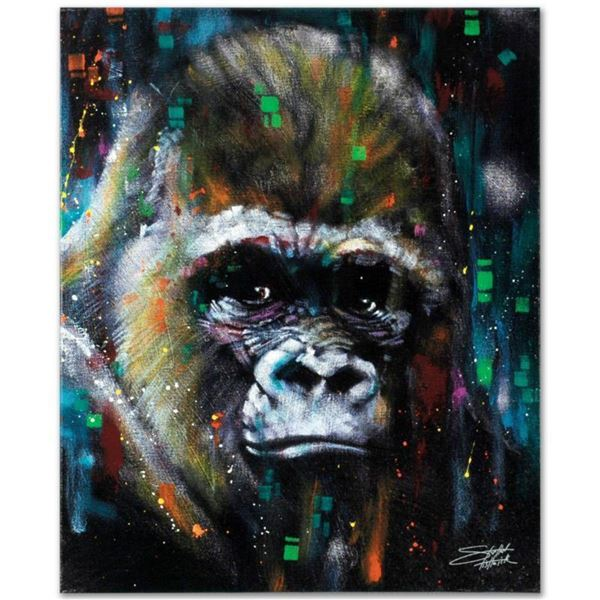 """Albert"" Limited Edition Giclee on Canvas by Stephen Fishwick, Numbered and Signed. This piece comes"