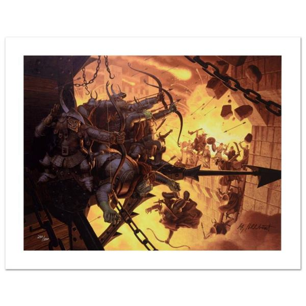 """The Siege Of Minas Tirith"" Limited Edition Giclee on Canvas by The Brothers Hildebrandt. Numbered a"