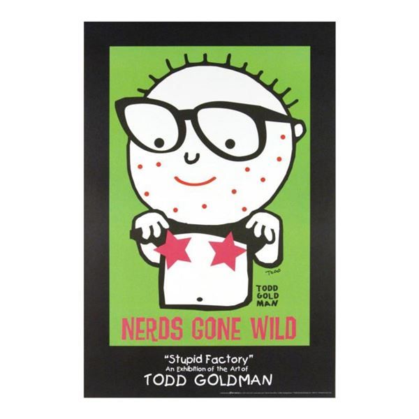 """Nerds Gone Wild"" Collectible Lithograph Hand Signed by Renowned Pop Artist Todd Goldman."