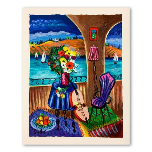"Shlomo Alter, ""Spanish Guitar"" Hand Signed Limited Edition Serigraph on Paper with Letter of Authent"