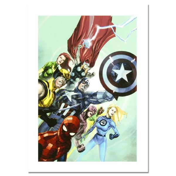 "Marvel Comics, ""Secret Invasion #1"" Numbered Limited Edition Canvas by Leinil Francis Yu with Certif"