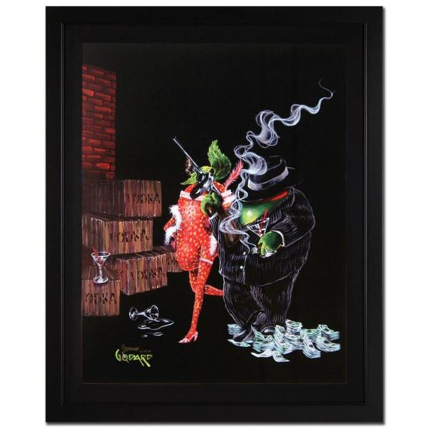 "Michael Godard, ""Ollie Capone"" Framed Limited Edition on Canvas, Numbered and Signed with Letter of"