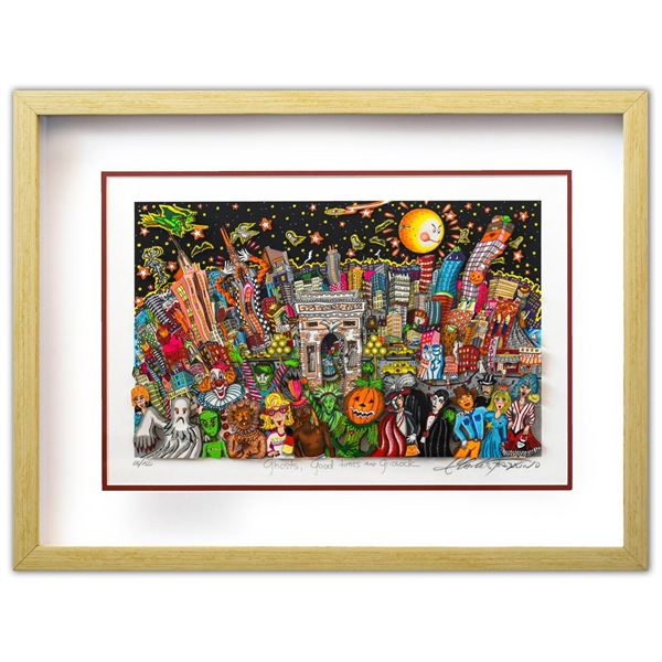 "Charles Fazzino- 3D Construction Silkscreen Serigraph ""Ghosts, Good Times, and Gridlock"""