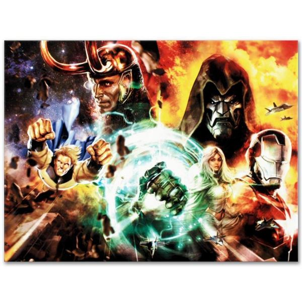 """Marvel Comics """"What If? #200"""" Numbered Limited Edition Giclee on Canvas by Dave Wilkins with COA."""