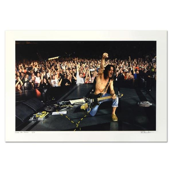 """Rob Shanahan, """"Eddie Van Halen"""" Hand Signed Limited Edition Giclee with Certificate of Authenticity."""