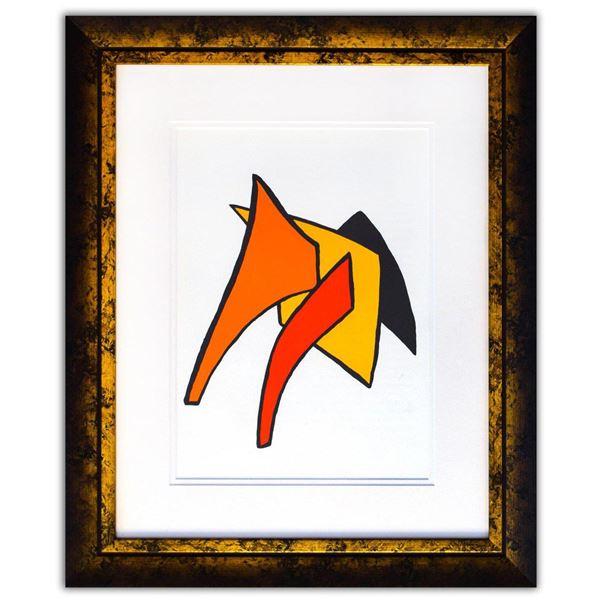 "Alexander Calder- Lithograph ""DLM141 - Lune jaune et porc qui pique"""