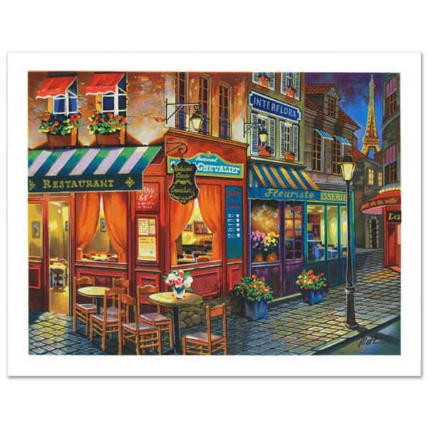 """Anatoly Metlan, """"Saint Denis La Nuit"""" Limited Edition Lithograph, Numbered and Hand Signed with Cert"""
